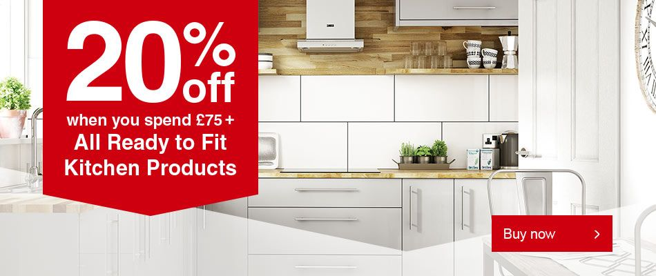 20% off Ready to Fit Kitchens