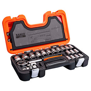 Image of Bahco 24 Piece 1/2in Drive Socket Set