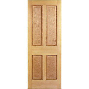 Wickes Denham Internal Oak Veneer Door 4 Panel 1981 x 762mm