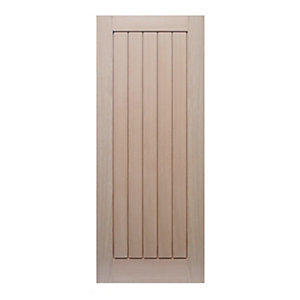 Wickes Geneva Internal Cottage Oak Veneer Door 5 Panel 1981 x 762mm
