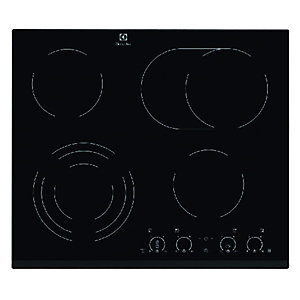 Electrolux EHF6747FOK 4 Zone Ceramic Hob Black 600mm