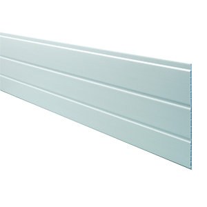 Wickes PVCu White Hollow Soffit Board 300 x 2500mm.