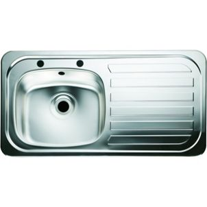 wickes single bowl kitchen sink stainless steel rh drainer wickescouk. beautiful ideas. Home Design Ideas