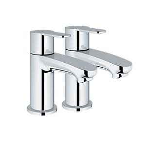 Grohe Wave Cosmo Pillar Taps Chrome.