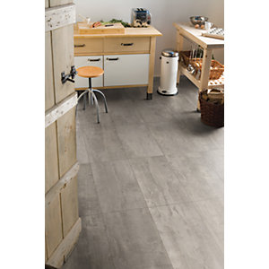 Wickes Concrete Tile Effect Laminate Flooring.