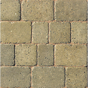 Marshalls Drivesett Duo Textured Heather/Cotswold 240x160x50 Driveway Pack of 280