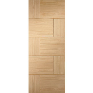 XL Ravenna Internal Oak Veneer Fire Door 10 Panel 1981 x 838mm