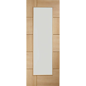XL Ravenna Internal Oak Veneer Door with Clear Glaze 10 Panel 1981 x 686mm