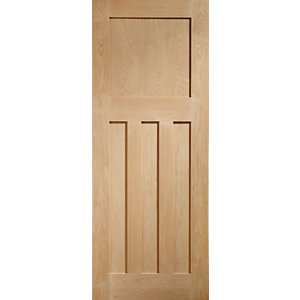 XL Dx Internal Oak Veneer Fire Door 3 Panel 1981 x 762mm