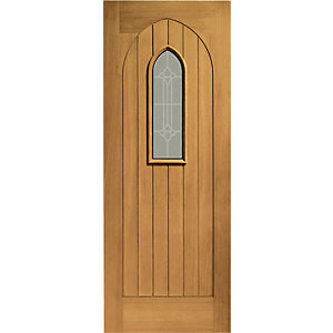 XL Westminster External Oak Veneer Right Handed Fully Finished Door Set 2067 x 926mm