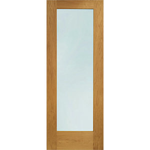XL Pattern 10 External Oak Veneer Right Opening Fully Finished Door Set 2067 x 850mm