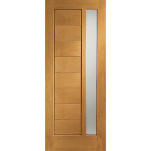 XL Modena External Oak Veneer Right Handed Fully Finished Door Set 2067 x 926mm