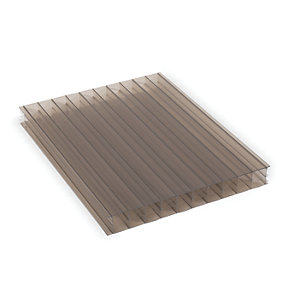 25mm XL Structure Polycarbonate Sheet Bronze 1050 x 2000