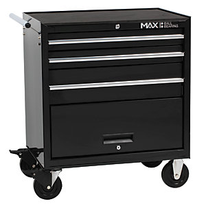 Hilka Professional 3 Drawer Rollaway Tool Chest - Black