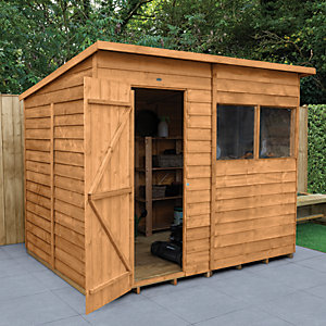Forest Garden Pent Overlap Dip Treated Shed - 8 x 6 ft