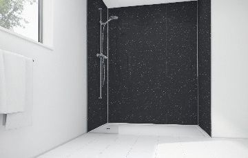 Compare prices for Black Sparkle Gloss Laminate Panel 2400 x 900mm Sq