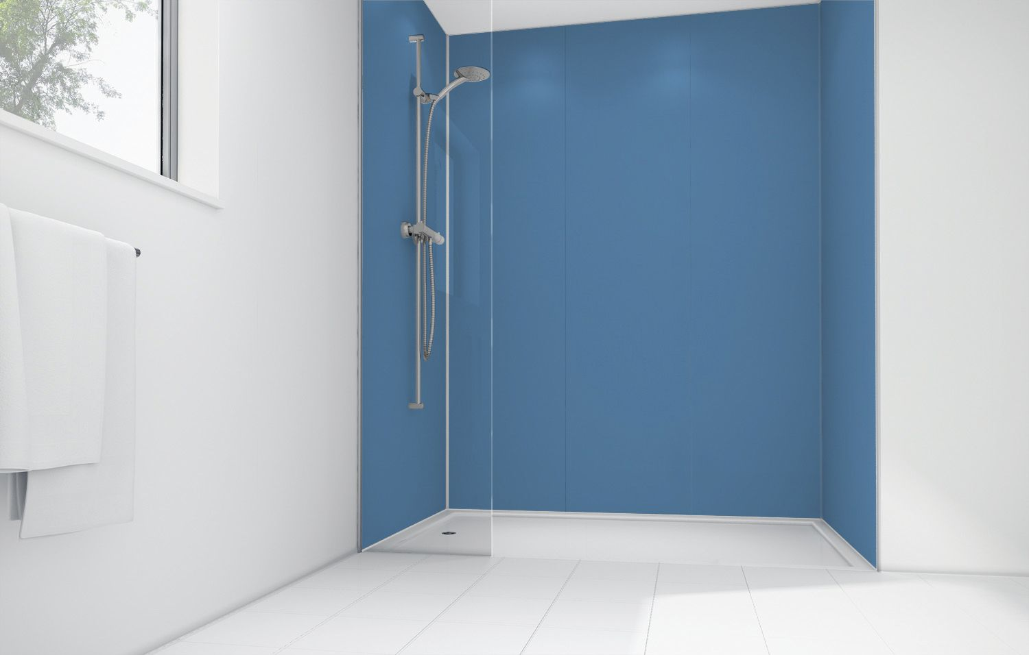 Compare prices for Blue Lagoon Acrylic Panel 2440 x 900mm