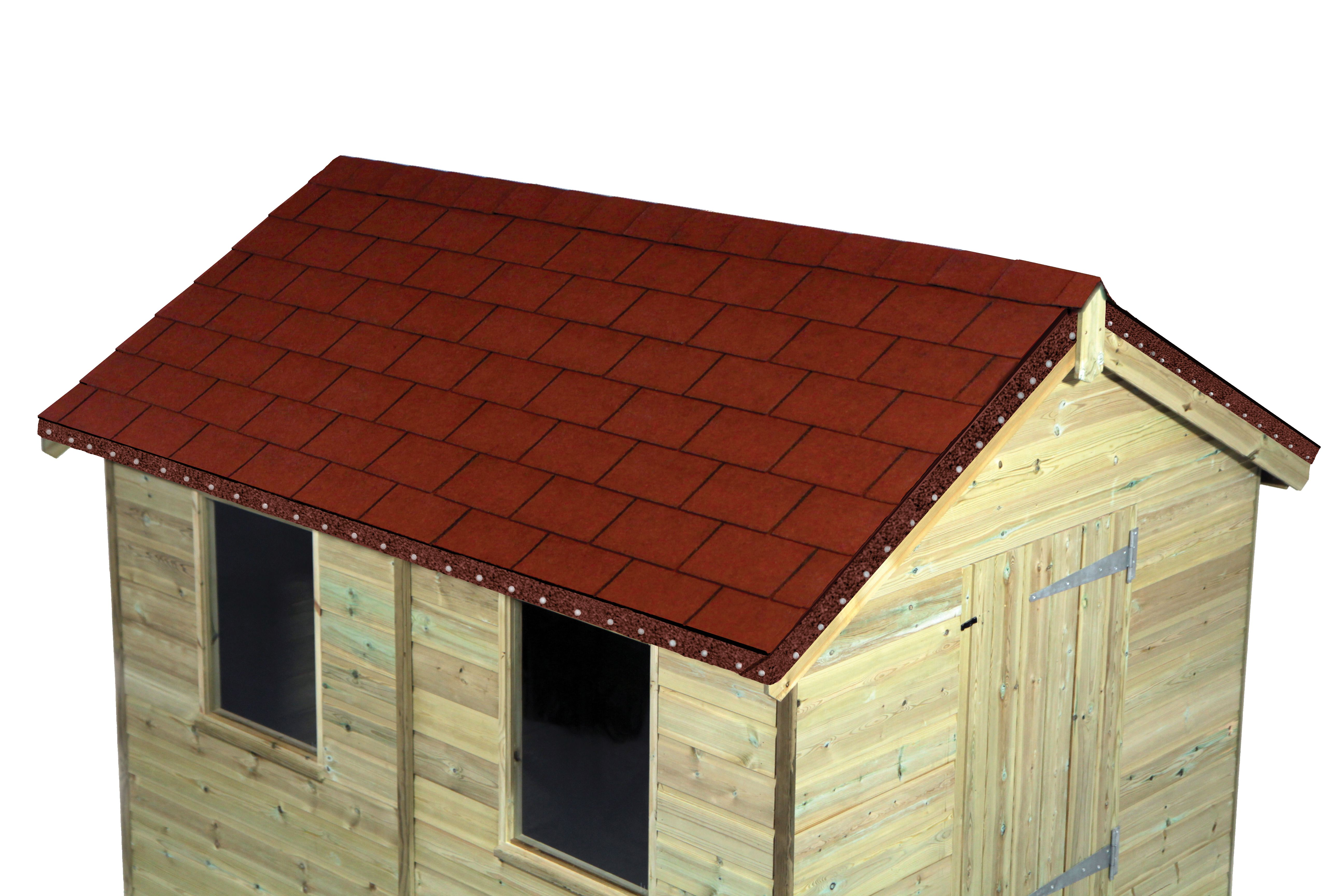 Wickes Red Roofing Shingles 2m2 Pack 14 | Wickes.co.uk