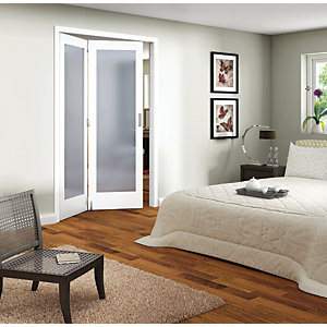 Wickes Ashton Internal Folding Door White Glazed 1 Lite 2 Door 2047mm x 1319mm