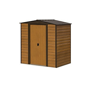 Rowlinson Woodvale Metal Apex Shed without Floor 6x5