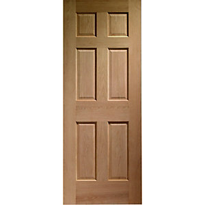 Wickes Colonial External Oak Veneer Door 6 Panel 1981 x 762mm