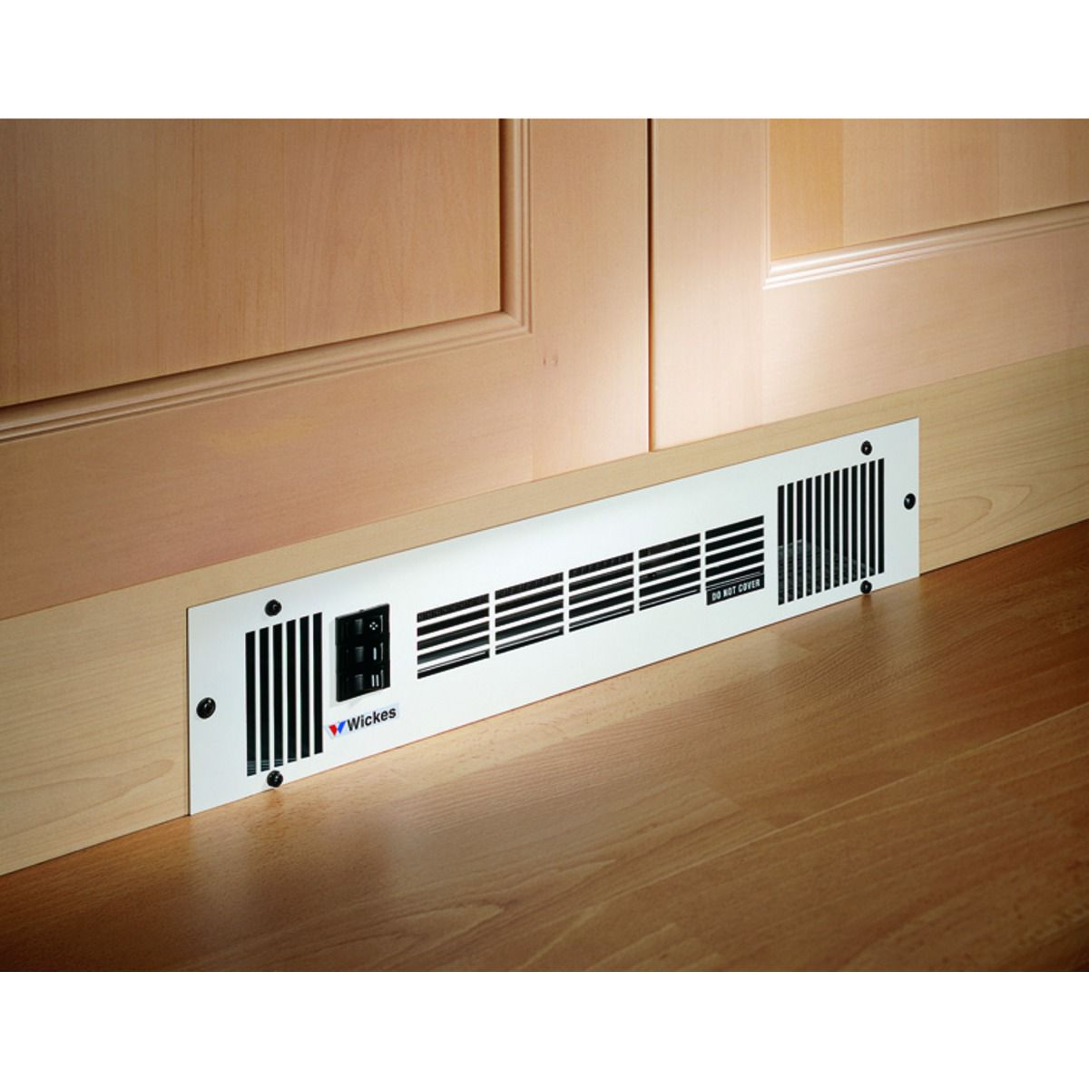 Wickes Central Heating Stainless Steel Plinth Heater   1.6kW | Wickes.co.uk