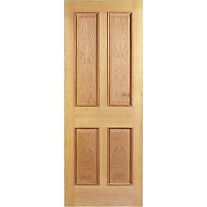 Wickes Denham Internal Fire Door Oak Veneer 4 Panel 1981x762mm