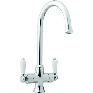 wickes toba mono mixer kitchen sink tap chrome - Kitchen Sink Tap