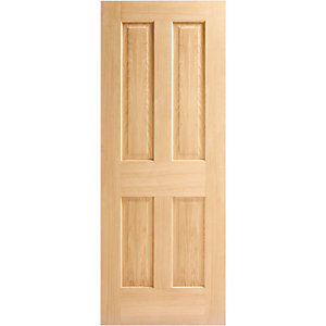 Wickes Cobham Internal Fire Door Oak Veneer 4 Panel 1981x686mm