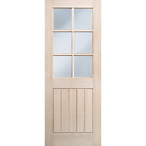 Wickes Geneva Internal Cottage Glazed 5 Panel Oak Veneer Door - 1981 x 686mm