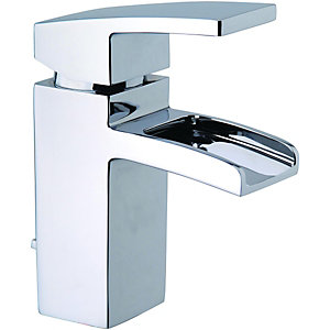 Wickes Waterfall Mono Basin Mixer Tap Chrome.