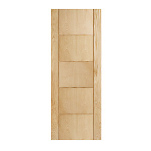 Wickes Thame Internal Fire Door Oak Veneer Door 5 Panel 1981x686mm