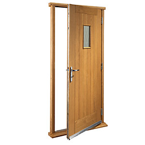 Wickes Chancery External Cottage Oak Veneer Door Set 2067 x 850mm