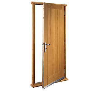 Wickes Suffolk External Cottage Oak Veneer Door Set 2067 x 926mm