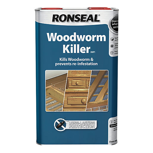 ronseal woodworm killer interior exterior wood treatment 1l