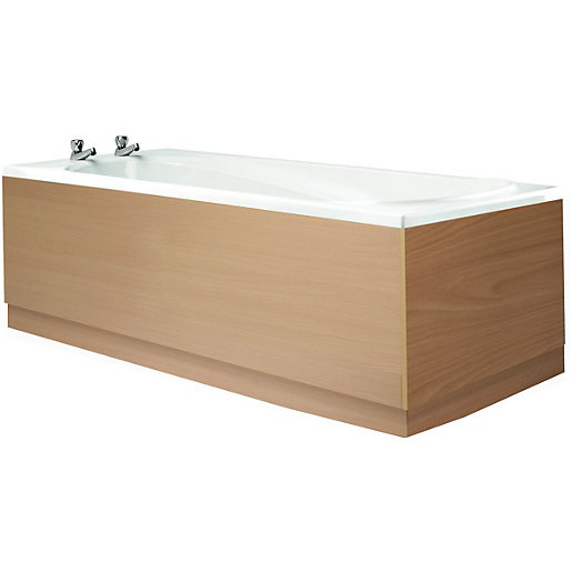 wickes bath front panel beech effect 1700mm. Black Bedroom Furniture Sets. Home Design Ideas