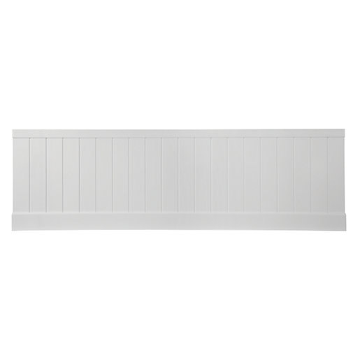 wickes tongue groove bath front panel white gloss. Black Bedroom Furniture Sets. Home Design Ideas