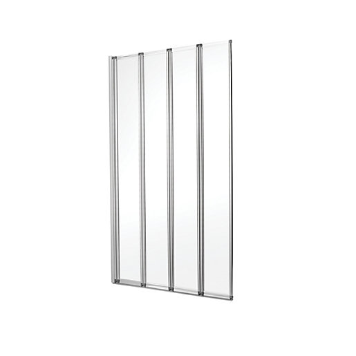 wickes four fold bath screen silver effect frame wickes trackless shower doors for bathtub images