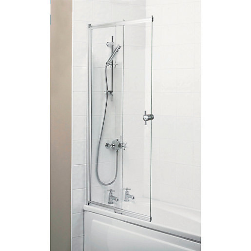 wickes sliding bath screen silver effect frame wickes co uk buy sliding door shower screen in melbourne 2 sliding