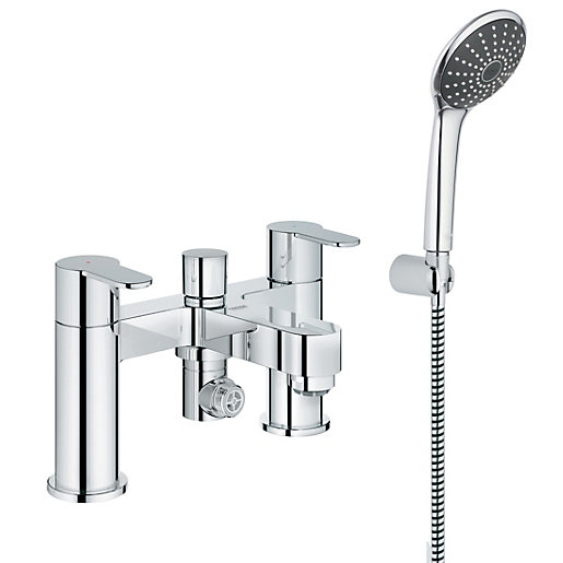 grohe wave cosmo bath shower mixer chrome. Black Bedroom Furniture Sets. Home Design Ideas