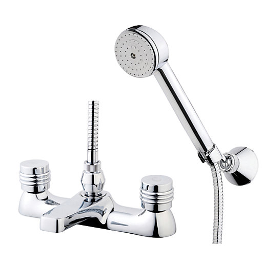 Wickes Salerno Bath Shower Mixer Tap - Chrome | Wickes.co.uk