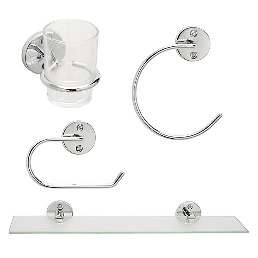 Wickes Piece Bathroom Accessory Set Wickes Co Uk