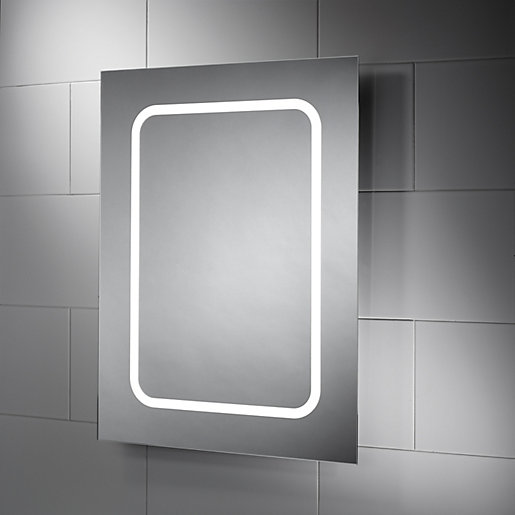 Safety Mirrors For Bathrooms: Wickes Alaska Diffused LED Bathroom Mirror