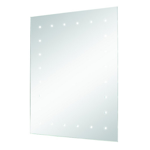 Large rectangular bathroom mirror