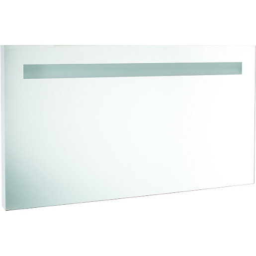 Wickes Rectangular Wall Bathroom Mirror With Light 1200mm