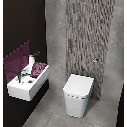 Bathroom Tiles Wickes : Wickes battersea splitface grey ceramic wall tile