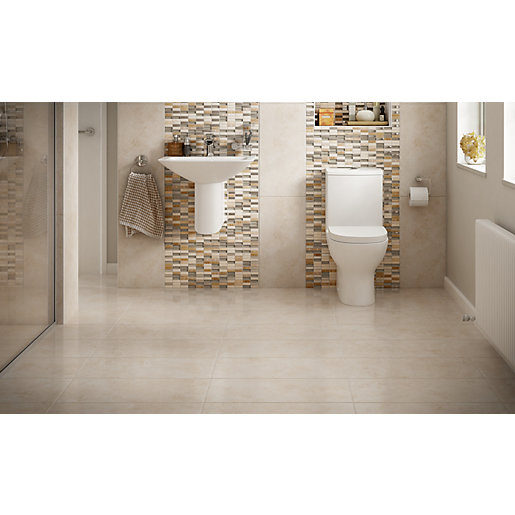 Wickes Brook Beige Porcelain Tile 600 X 300mm Wickes Co Uk