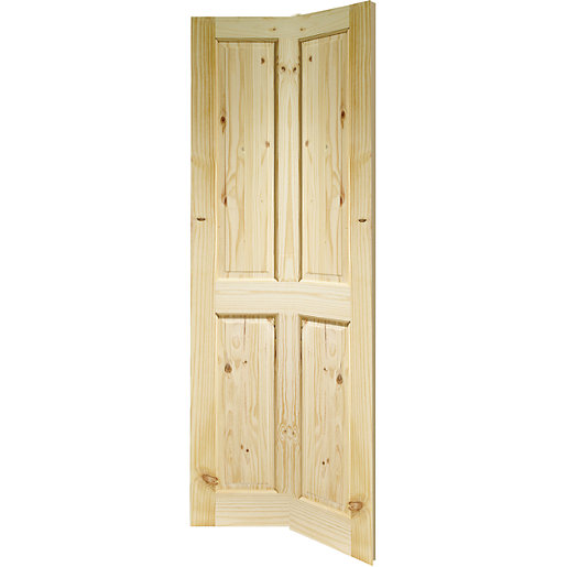 wickes chester internal bi fold door knotty pine 4 panel. Black Bedroom Furniture Sets. Home Design Ideas
