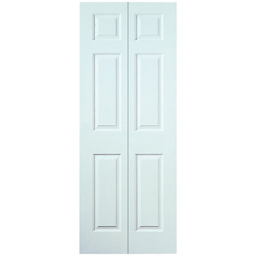 Wickes Woburn Internal Bi Fold Door White Smooth Moulded 6