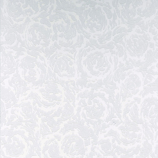 Graham U0026 Brown Paintable Textured Blown Vinyl Wallpaper Swirl White   10m